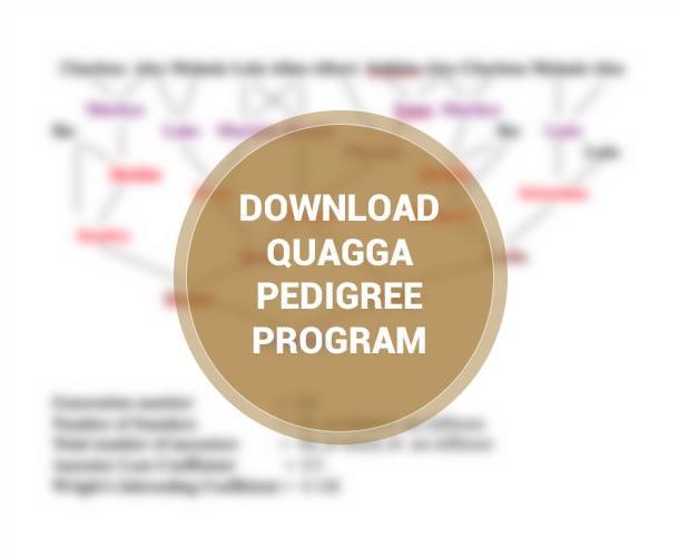 Quagga Pedigree program